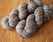 merino DK hand dyed yarn Ephemeral Smoke