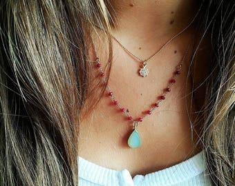 Sun Gold Necklace necklace Sun • • Minimal Jewelry • necklace • Dainty necklace • Layered necklace