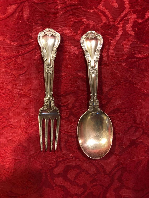 FREE SHIPPING-Gorham-Chantilly Sterling Silver- Childs Fork Spoon Set