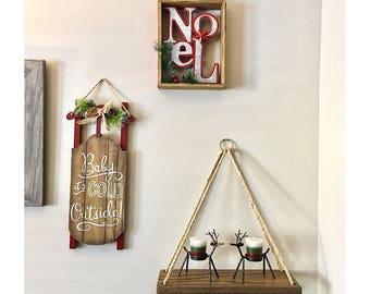 Petite Triangle Hanging Shelf