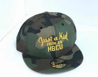 Just A Kid From An HBCU(Camo Baseball Cap)