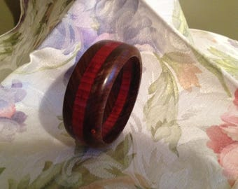 Wood bangle bracelet #3L