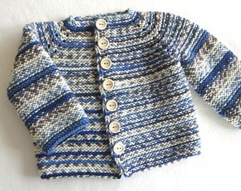 Baby Boy Jacket Crochet Baby Cardigan Knitted Baby Boy Sweater Crochet Baby Coat Knitted baby Coat Newborn Boy Clothes Baby Boy Gift
