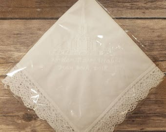 Jordan River LDS Temple Dedication Handkerchiefs