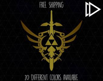 Zelda Triforce Master Sword Crest Decal
