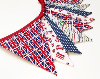 British Flag, British Decor, London Decor, London Bus, British Home Decor, British Bunting, Tube Map, British Flag, Nessa Foye