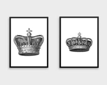 King And Queen Crown Wall Decor crown wall art | etsy
