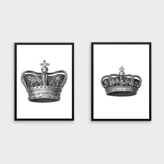 King And Queen Wall Decor King And Queen Crown Couples