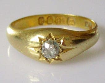 18ct Gold Diamond Ring Size N or 6 1/2