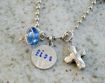 Hand Stamped Charm Bracelet or Necklace: Fiat