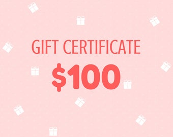 Gift Certificate 100 Dollars from Wooden Caterpillar Toys