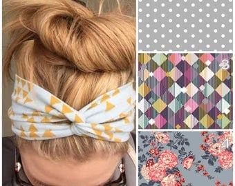40+ Fabric Options! Turban Headband, Adult and Baby, Adult Turban Headband, Adult Headwrap, Baby Turban Headband, Baby Headband