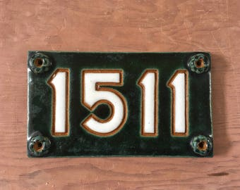 Handmade Stoneware Address Plaque 1511