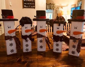 Block Snowmen