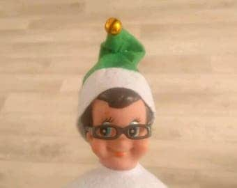 1 pair of Elf on the shelf inspired Glasses for a elf that could sit on your shelf or the desk ect. Prop for christmas eve