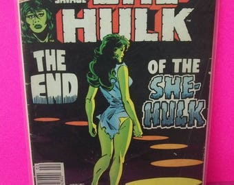 1980 The Savage She-Hulk  #25  Final Issue The End Of She Hulk Jennifer Walters  Good -VG   Lots Of Cover Creases Vintage  Marvel Comic Book