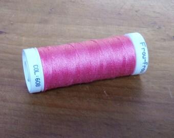 LBDK1251 608 Rubis éclatant clair - Fil à coudre tous textiles - Très résistant - FROU FROU - Bobine de fil