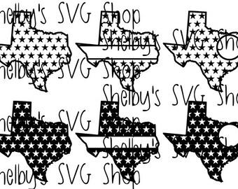 Texas Star Set - SVG