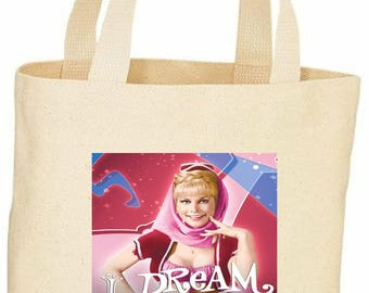Dream of Jeanie vintage style custom tote bag