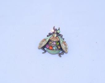 Rhinestone Fly Pin