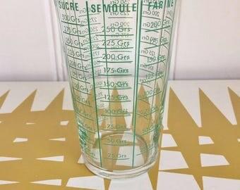 Splendid Vintage French quick measure, sugar, rice, salt etc. Retro