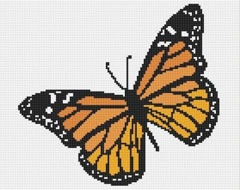 Monarch Butterfly Counted Cross Stitch Pattern / Chart, Instant Digital Download  (AP178)