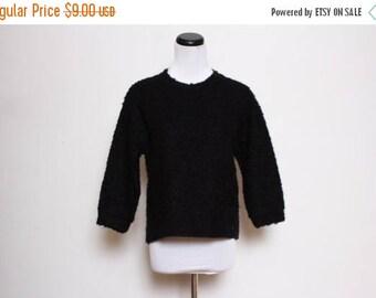 25% OFF VTG 90s Black Plain Fuzzy Sweater M