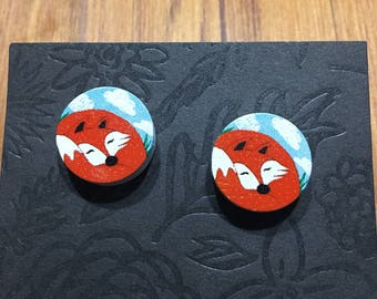 Timber Fox Stud Earrings
