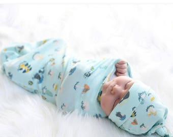 Baby Cocoon Hat Set,  Swaddling Sack, Coming Home Outfit, Infant Swaddle,  Unisex,  Swaddling, Swaddle, Handmade