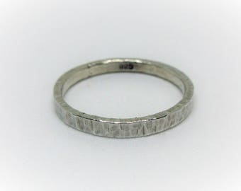 Silver Textured Handmade Ring