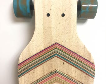 Recycled Skateboards Turned into longboard Handcrafted