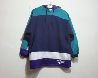 vintage 90s reebok sportwear hoodie size L youth