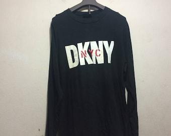 vintage 90s donna karen newyork t-shirt long sleeves men size L