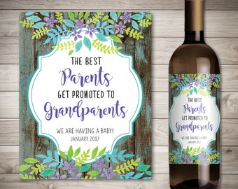 Bien-aimé Étiquette de vin personnalisée grossesse annonce idées LY31