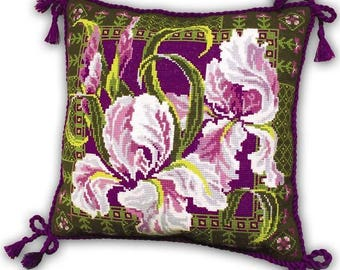 "Cross Stitch Kit by RIOLIS ""Pillow with Iris"""