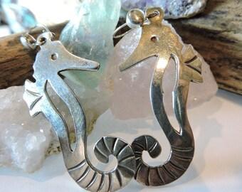 Seahorse Sterling Silver Earrings