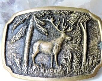 Belt Buckle Elk