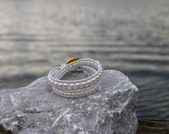 Double Wrap Swarovski Pearl Bracelet