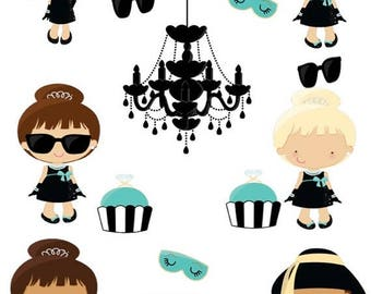SALE Breakfast at Tiffany Chic Planner Stickers