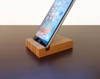 Bamboo iPhone 6 Stand. Bamboo iPad AIR Stand. iPad & iPhone Stand. Wood iPhone 6 Stand. iPhone 6 Stand. Wood iPad AIR Dock Station.