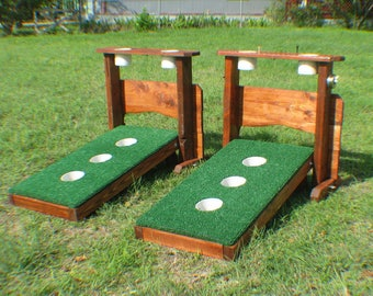 3 Hole Washer Toss Boards with Drink Holders