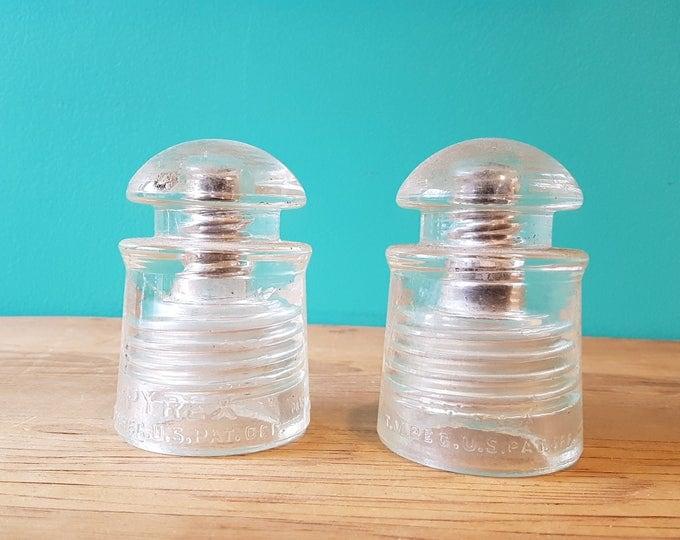 Pair of Pyrex Glass Insulators