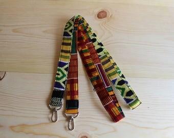 Landyard with id Holder - id Holder Lanyard - Holder id - id Lanyard - Card Lanyard - Keys Holder - Lanyard Key Holder - African Gifts