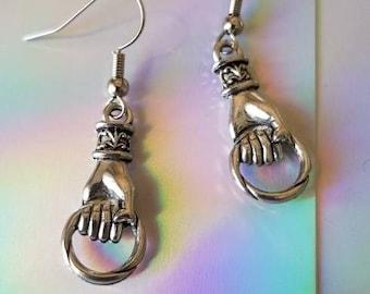 Oracle Hands Charm Earrings