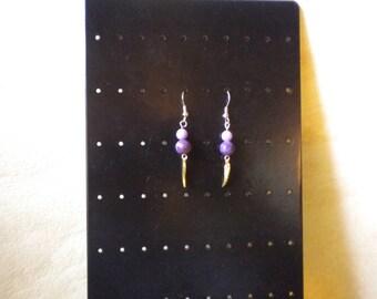 jade beads hand made pierced earrings