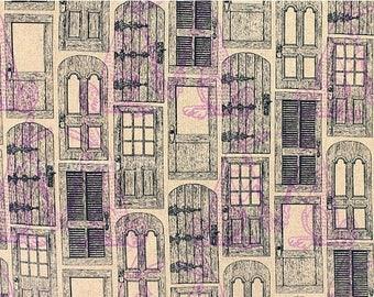 SALE Rabbit Doors Cotton Linen by Kokkah Fabric Japanese Import