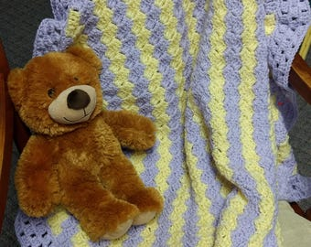 DARLING DIAGONALS Baby Blanket - Ready to Ship