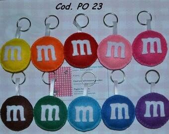 Candy Snack keychain M & M