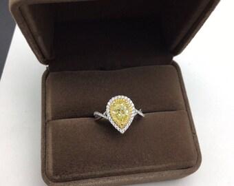 1 Carat Yellow Diamond Engagement Ring Yellow Diamond Ring