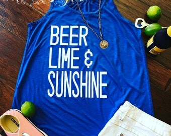 Beer Lime & Sunshine tank/raglan/tee